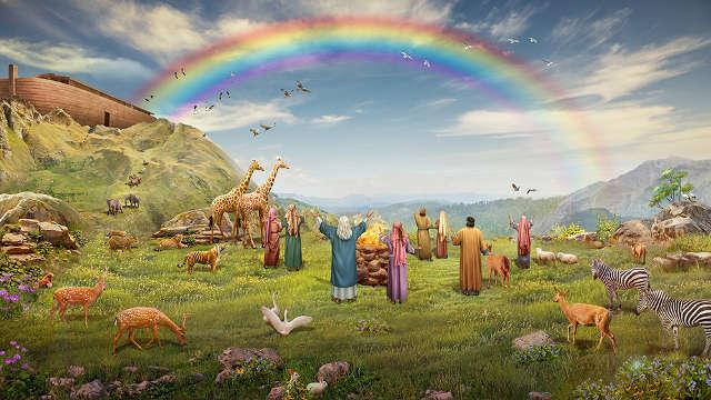 彩虹,挪亚方舟