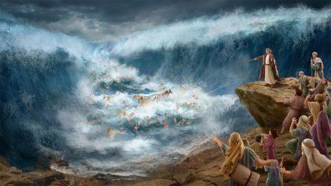 神帶領以色列人過紅海