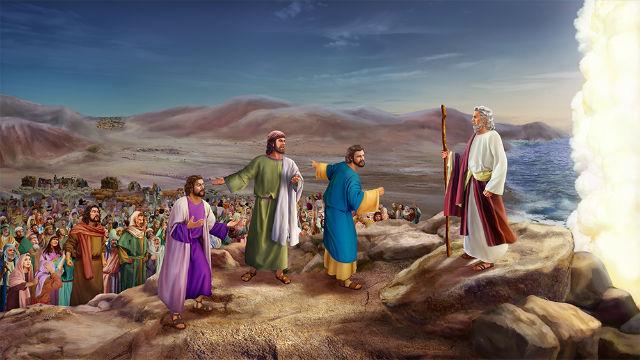 百姓沿途埋怨,惹怒耶和華神