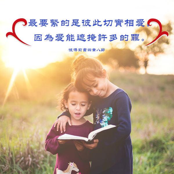 彼此相愛-聖經金句圖片