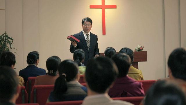 講道,教堂,十字架,聖經