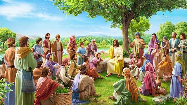 主耶穌在約旦河邊講道