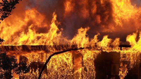 廠房着火黑煙滾滾天空都染黑了方圓幾十公里都能看到