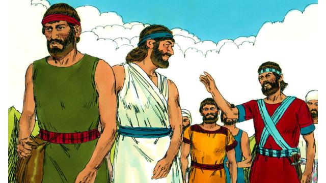 約書亞率領以色列人過約旦河