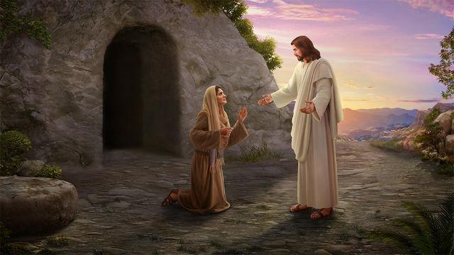 主耶穌向馬利亞顯現