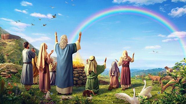 神用彩虹与人立约