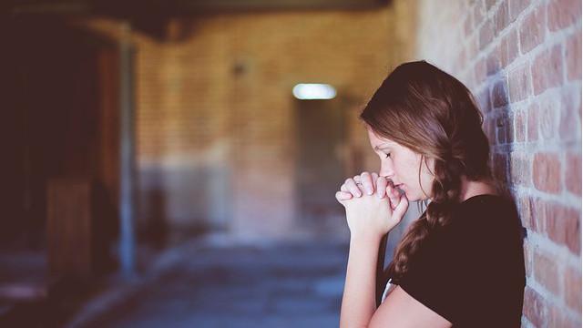禱告,女人,祈禱