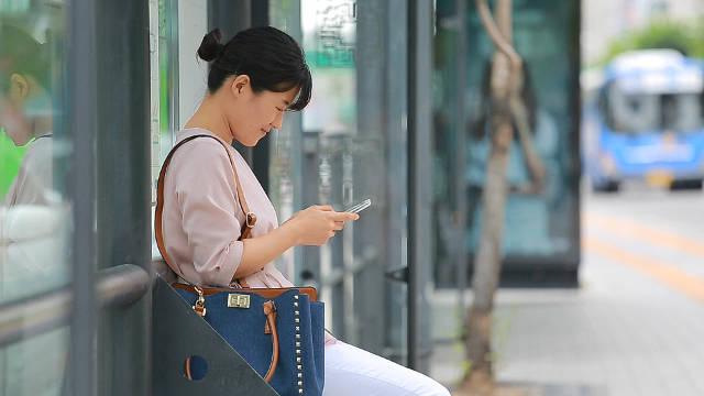 女子,手機