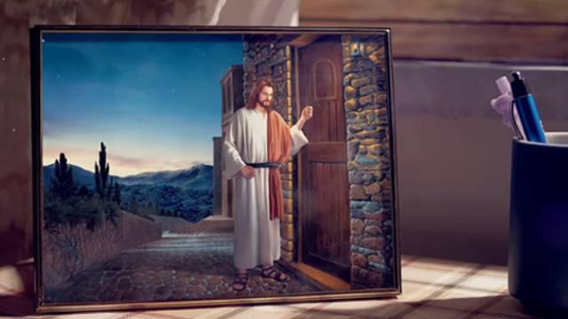 主耶穌,叩門