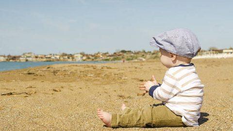 孩子,海灘,病得醫治