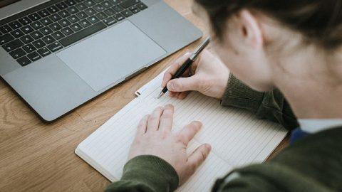 寫字,女孩