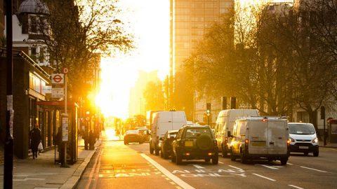 巴士,風景,街道