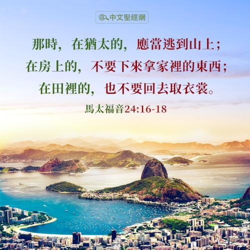 馬太福音24:16-18|靈修經文