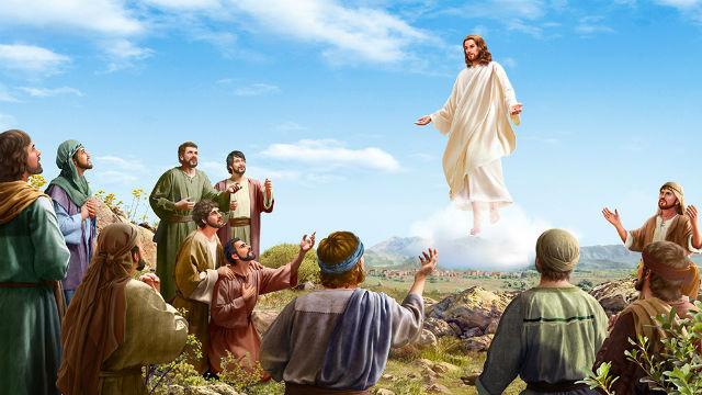 主耶穌駕著白雲走