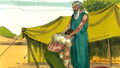 聖經故事-神祝福以撒 以撒給雅各祝福