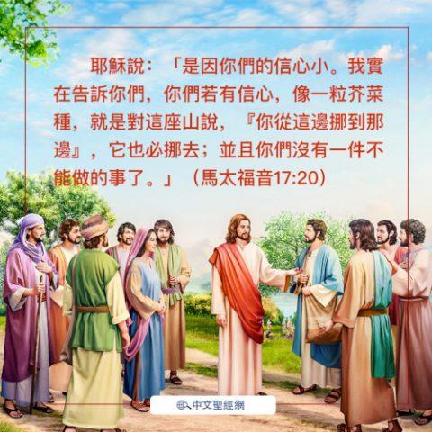 馬太福音17:20-靈修經文