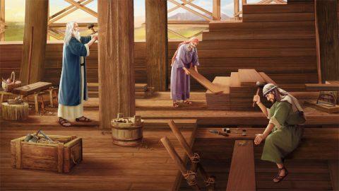 挪亞一家人造方舟