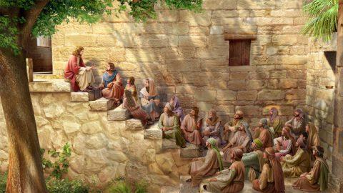 主耶穌給信徒講道