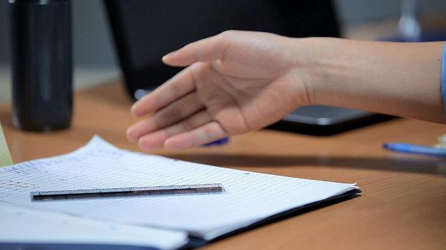 手,筆記本