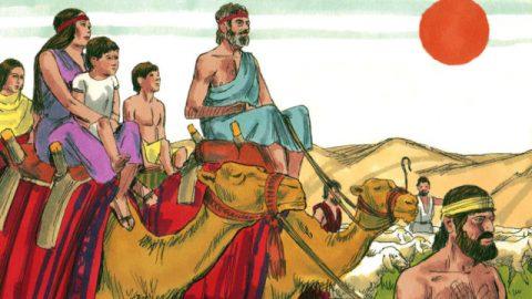 雅各的故事-雅各攜眷逃往迦南