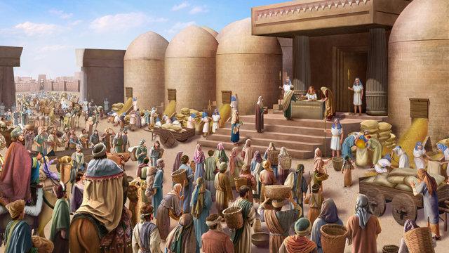 人人都到約瑟那裡拿糧食