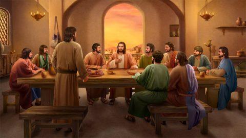 主耶穌和門徒說話