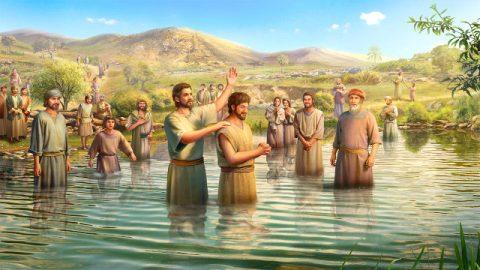 門徒給信徒施洗