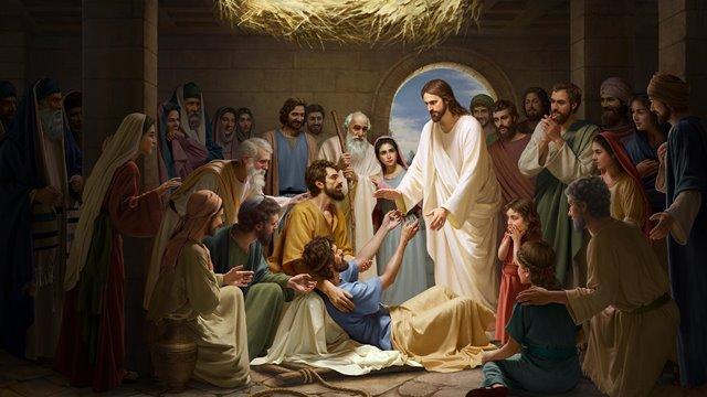主耶稣医治好瘫子