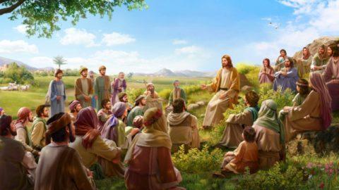 耶穌在眾人中間講道