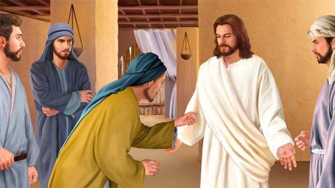多馬摸主耶穌帶有釘痕的手,探入主的肋旁