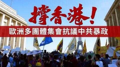 撐香港!歐洲多團體集會抗議中共暴政