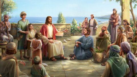 主耶穌在很多信徒中講道